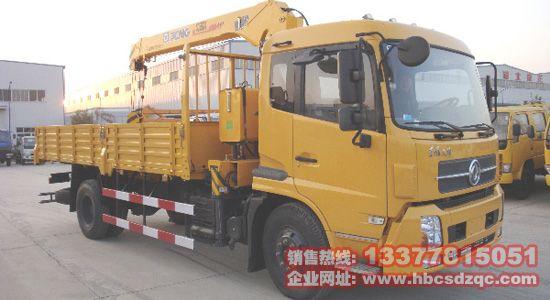5吨天锦随车吊黄色江特牌天锦随车起重运输车DFL1120B图片